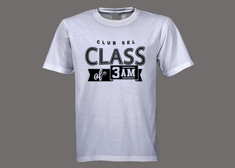 Club SEL Class of 3AM White Tee