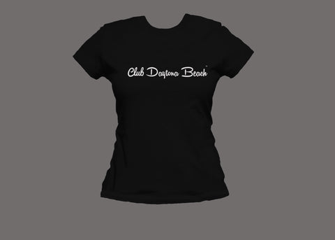 Club Daytona Beach Womens Black Tee