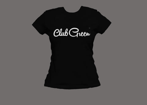 Club Green Womens Black Tee