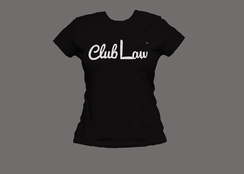 Club Law Womens Black Tee