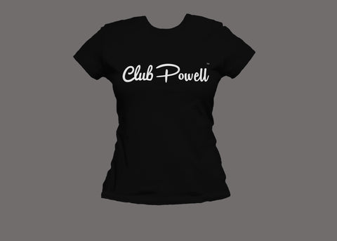 Club Powell Women's Black Tee