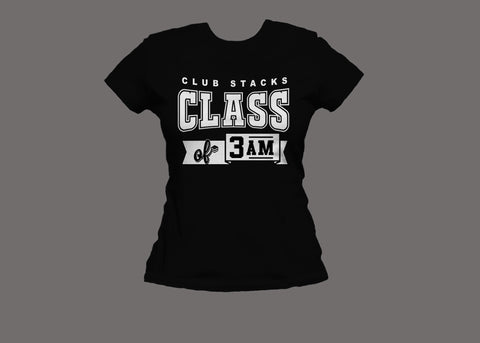Club Stacks Class of 3 AM Women's Black Tee