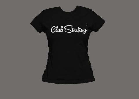 Club Sterling Womens Black Tee