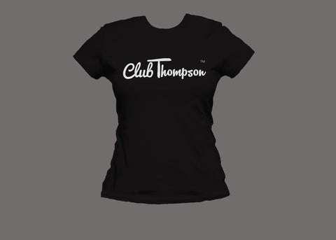 Club Thompson Womens Black Tee
