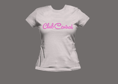 Club Central Womens White/Pink Tee