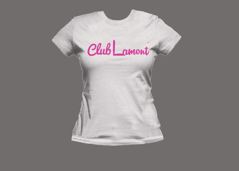 Club Lamont Womens White (Pink) Tee