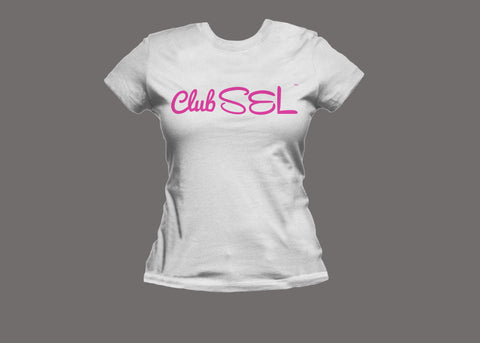 Club SEL Womens White/Pink Tee
