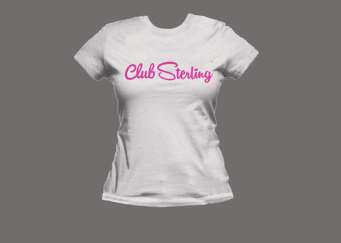 Club Sterling Womens White (Pink) Tee
