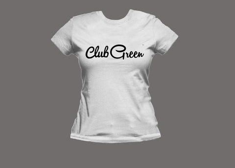 Club Green Womens White Tee