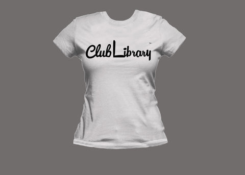 Club Library Womens White Tee