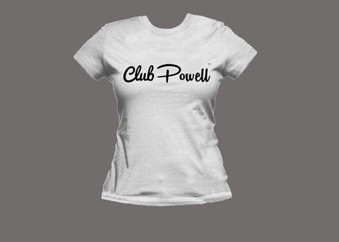 Club Powell Womens White Tee