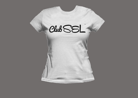 Club SEL Womens White Tee