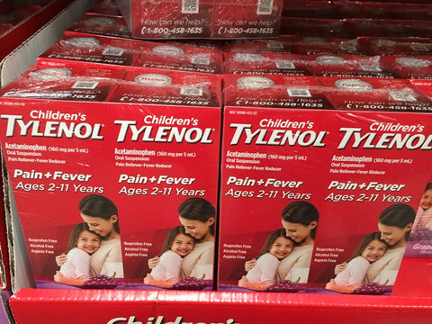 CHILDREN'S TYLENOL SUSPENSION GRAPE 2*4oz