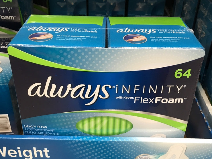 infinity pads. always infinity heavy pads 64ct infinity pads