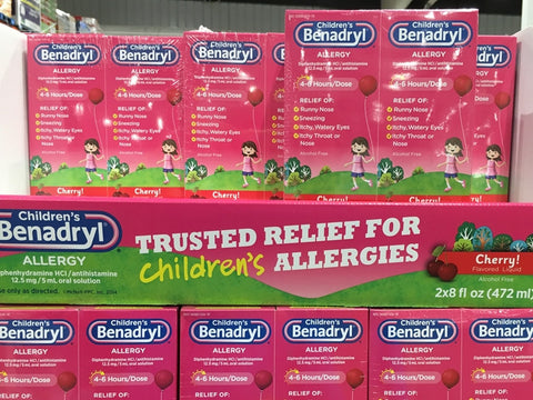 CHILDREN'S BENADRYL ALLERGY LIQUID 2* 8oz