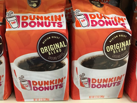 DUNKIN DONUTS ORIGINAL BLEND GROUND COFFEE 12oz