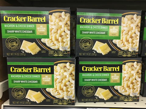 CRACKER BARREL MAC & CHEESE DINNER SHARP WHITE CHEDDAR 14oz