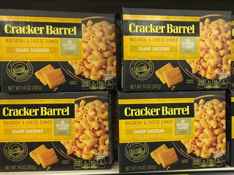 CRACKER BARREL MAC & CHEESE DINNER SHARP CHEDDAR 14oz