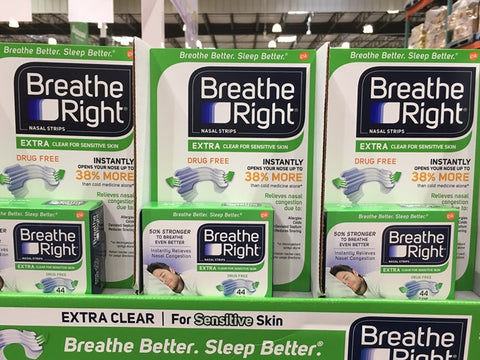 Breathe Right extra strips clear for sensitive skin 44 count