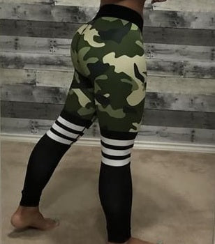Camo Workout Leggings Perfect Fit - Free Shipping‎