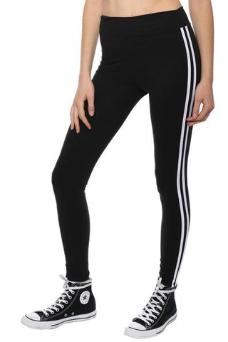 Petite White Side Stripe Legging