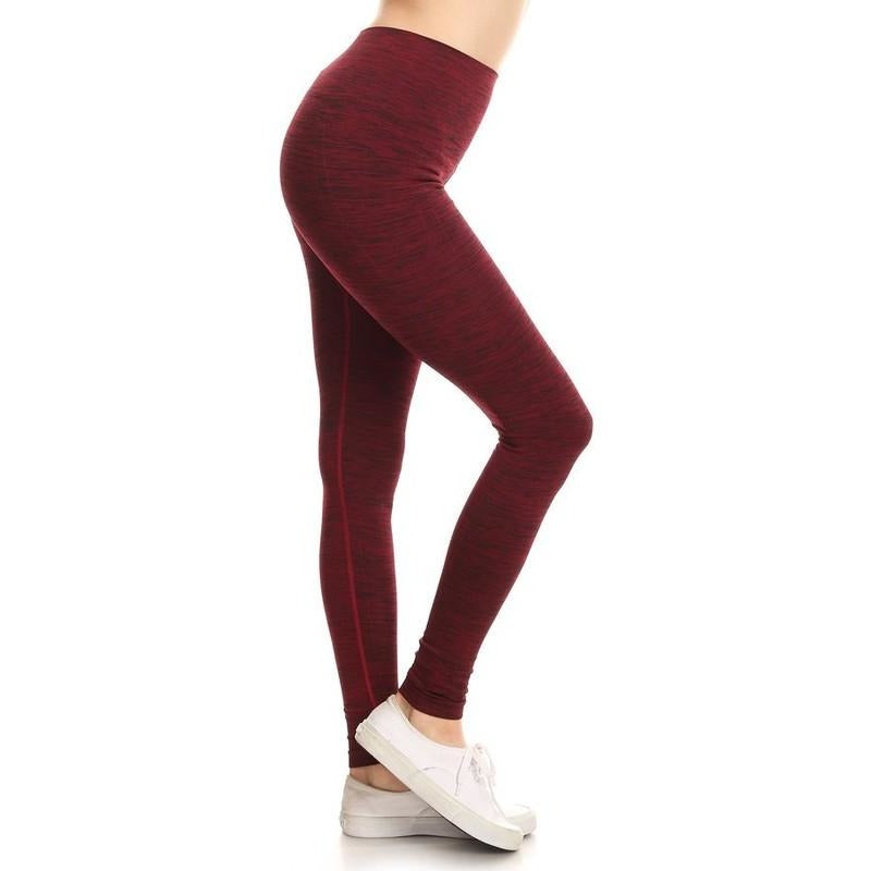 ACTIVEWEAR DIFFERENT KIND OF SEAMLESS LEGGINGS - Burgundy-prettyfitbox.com