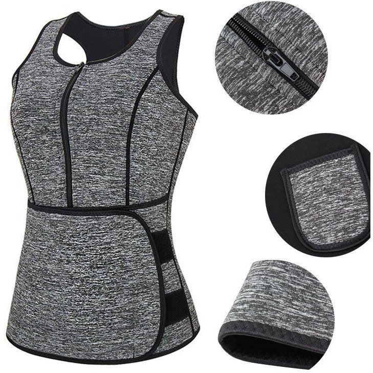 Sweaty Mess Body Vest - Tummy Trimmer-prettyfitbox.com