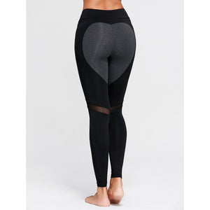 ACTIVEWEAR HEART SHAPED LEGGINGS - Dark Grey-prettyfitbox.com