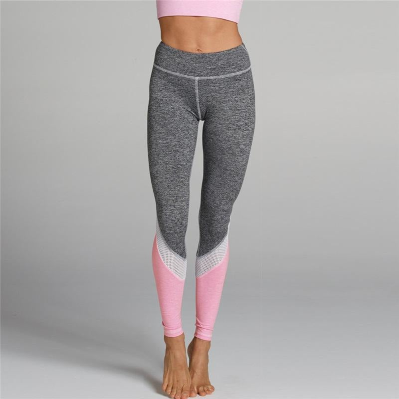ACTIVEWEAR COLOR BLOCK MESH LEGGINGS-prettyfitbox.com