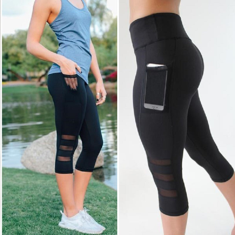 ACTIVEWEAR MESH PANEL LEGGINGS - Capri-prettyfitbox