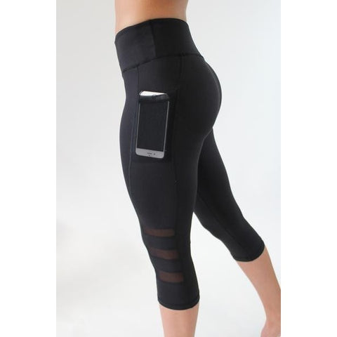 ACTIVEWEAR MESH PANEL LEGGINGS W/POCKET-prettyfitbox.com