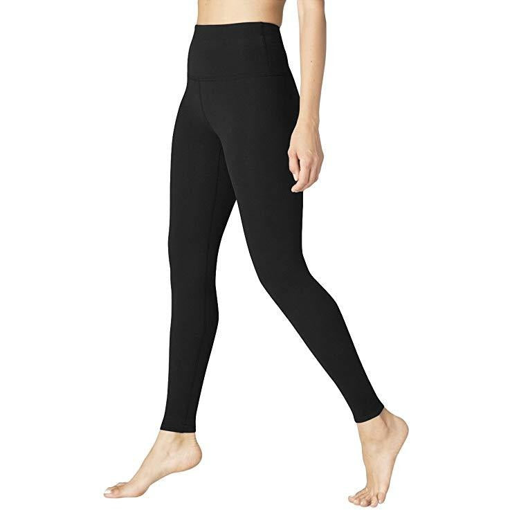ACTIVEWEAR HIGH WAIST POWER FLEX LEGGINGS - Black-prettyfitbox.com