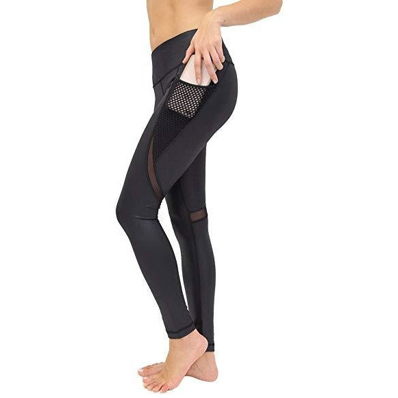 ACTIVEWEAR MESH PANEL LEGGINGS - Power Flex-prettyfitbox.com