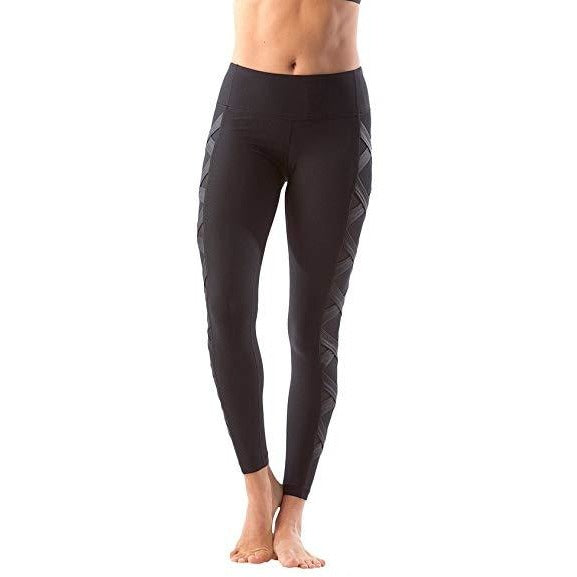 ACTIVEWEAR MESH PANEL LEGGINGS - Criss Cross-prettyfitbox.com
