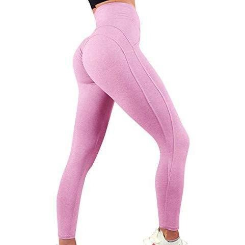 ACTIVEWEAR BEST SEAMLESS LEGGINGS - Pink-prettyfitbox.com