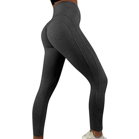 ACTIVEWEAR BEST SEAMLESS LEGGINGS - Black / Charcoal-prettyfitbox.com