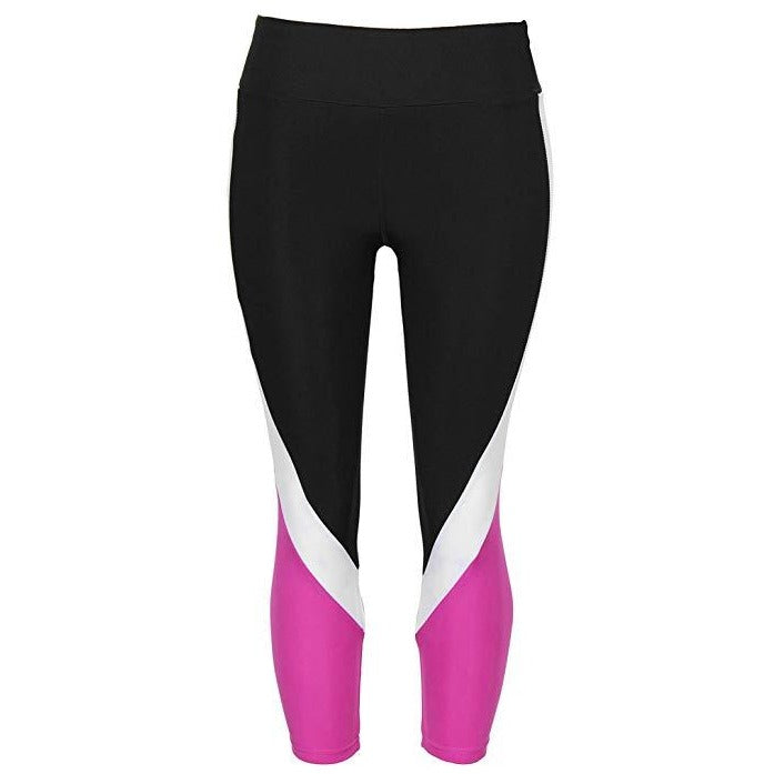 ACTIVEWEAR CAPRI COLORBLOCK LEGGINGS-prettyfitbox.com