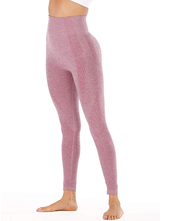 ACTIVEWEAR SEAMLESS LEGGINGS - Wine Red