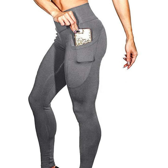 ACTIVEWEAR PRETTY FIT PREMIUM LEGGINGS - Grey-prettyfitbox.com