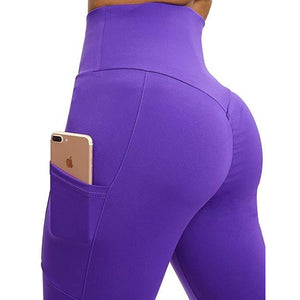 ACTIVEWEAR SCRUNCH BOOTY LEGGINGS - Side Pockets-prettyfitbox.com