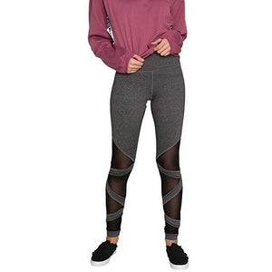 ACTIVEWEAR CRISS CROSS MESH PANEL LEGGINGS