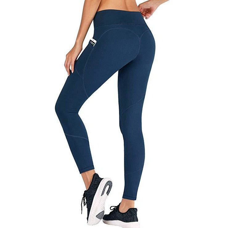 PREMIUM NAVY HEART BOOTY LEGGINGS