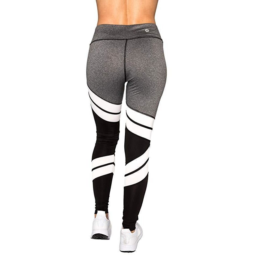 ACTIVEWEAR HIGH WAISTED STRIPED LEGGINGS-prettyfitbox.com