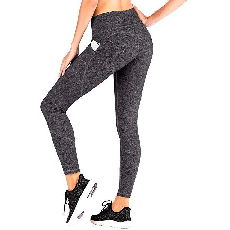 ACTIVEWEAR PREMIUM HEART BOOTY LEGGINGS - Speckled Steel-prettyfitbox.com