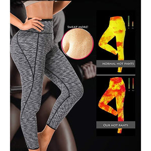 Neoprene High Waist Slimming Sauna Sweat Leggings-prettyfitbox.com