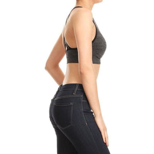 ACTIVEWEAR DIFFERENT KIND OF SEAMLESS SPORTS BRA - Grey-prettyfitbox.com