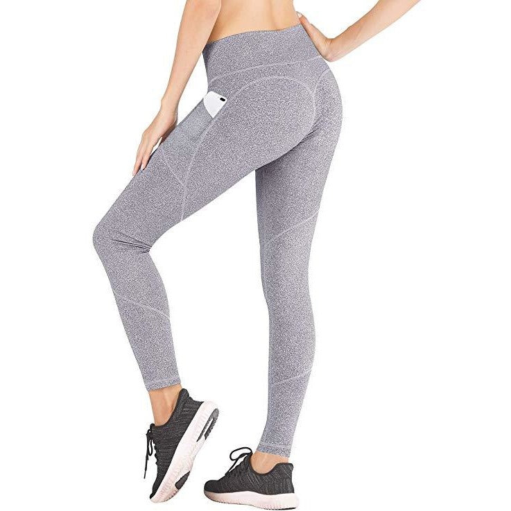 ACTIVEWEAR PREMIUM HEART BOOTY LEGGINGS - Speckled Grey-prettyfitbox.com