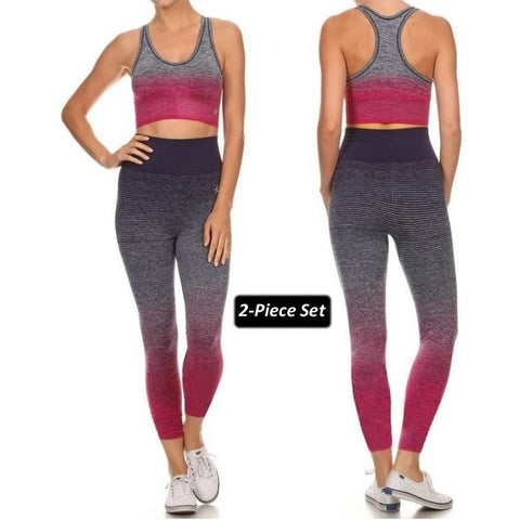 ACTIVEWEAR ALL THAT MATTERS OMBRE DYE LEGGINGS   Workout Set   prettyfitbox.com