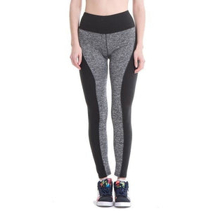 ACTIVEWEAR HIGH WAISTED TWO TONE LEGGINGS-prettyfitbox.com
