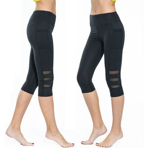 ACTIVEWEAR MESH PANEL LEGGINGS - Capri-prettyfitbox.com